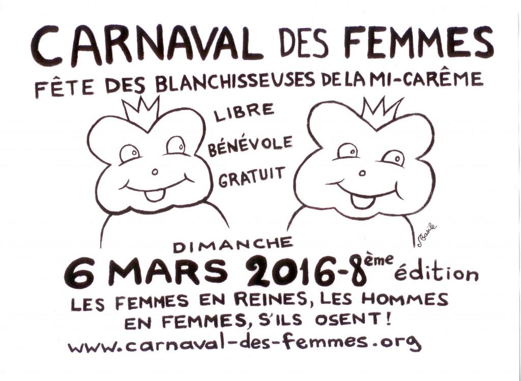 NOIR ET BLANC FINI Panonceaux intermédiaires pour le Carnaval des Femmes 2015 2
