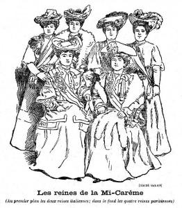 Au 1er rang, les Reines venues d'Italie.