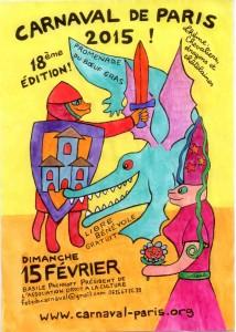 AFFICHE CARNAVAL DE PARIS 2015