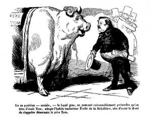 Père Tom - Boeuf Gras de 1853 - Le Journal pour rire