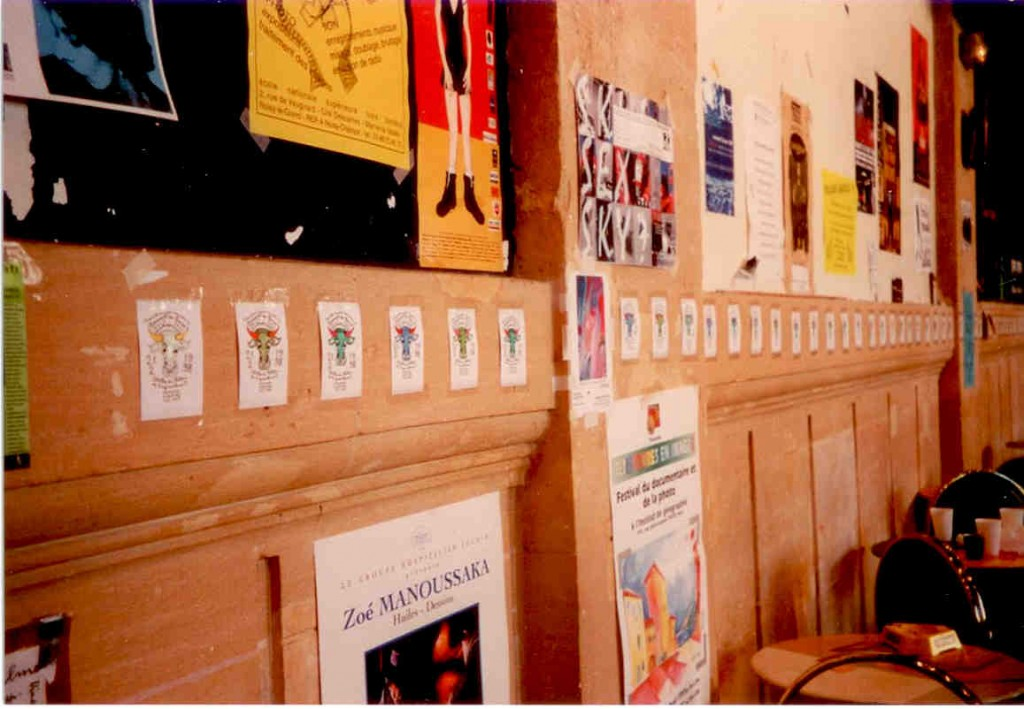 2 - 84 têtes de Boeufs aquarellées affichées dans la caféteria des Beaux-Arts le 2 mai 1997