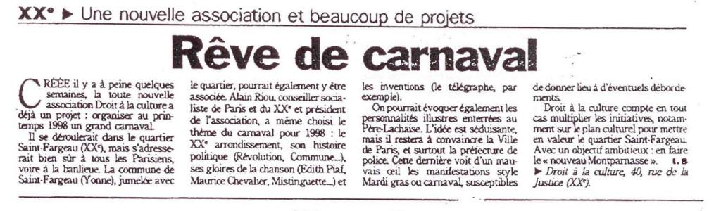 5 - Article d'Isabelle Bollène paru en mai 1997 dans le Parisien