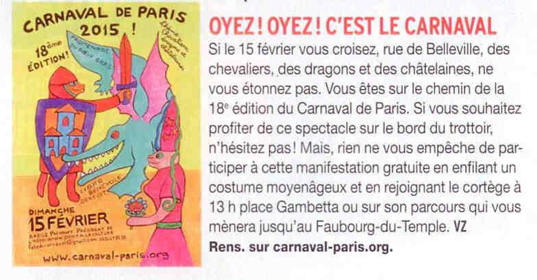 3 & 4 - Télé 7 Jours - Paris et moi - 7 au 13 février 2015 - Inseré également dans version Fémina du Journal du Dimanche 2 au 8 février 2015