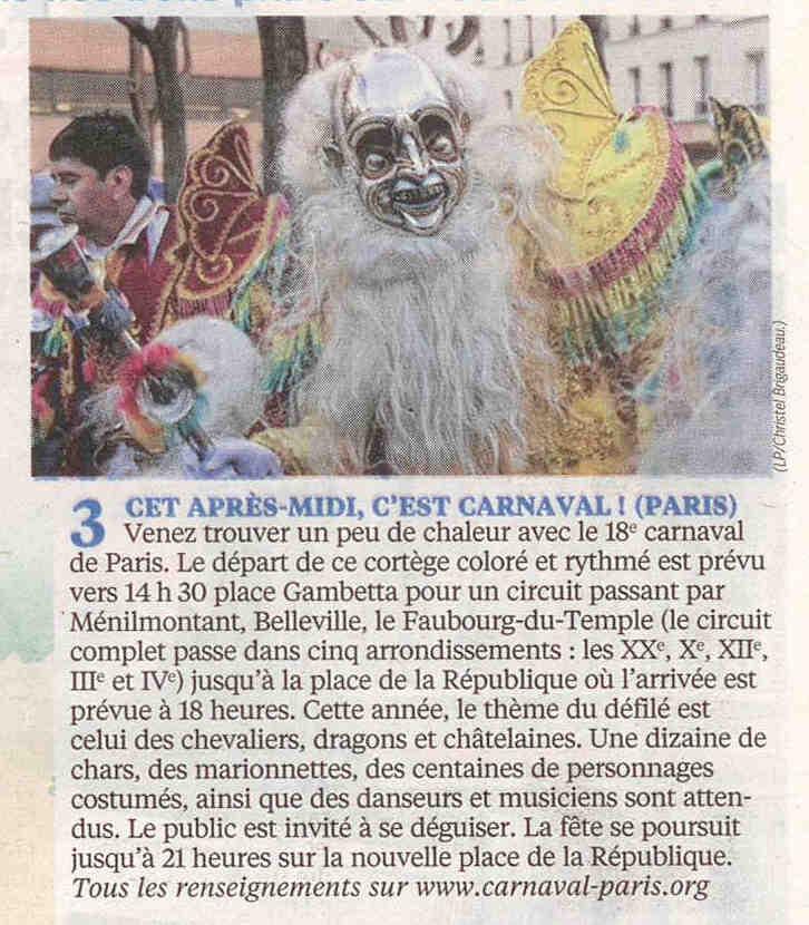 8 - Le Parisien - Le Guide de votre dimanche - 15 février 2015