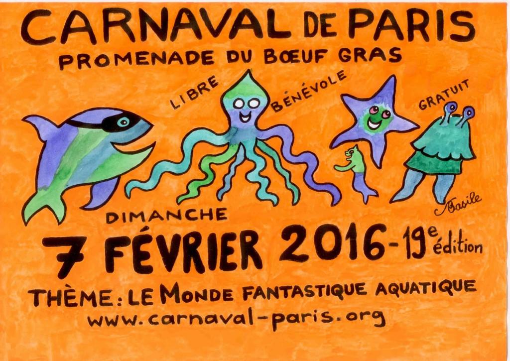 Panonceau Carnaval de Paris 2016