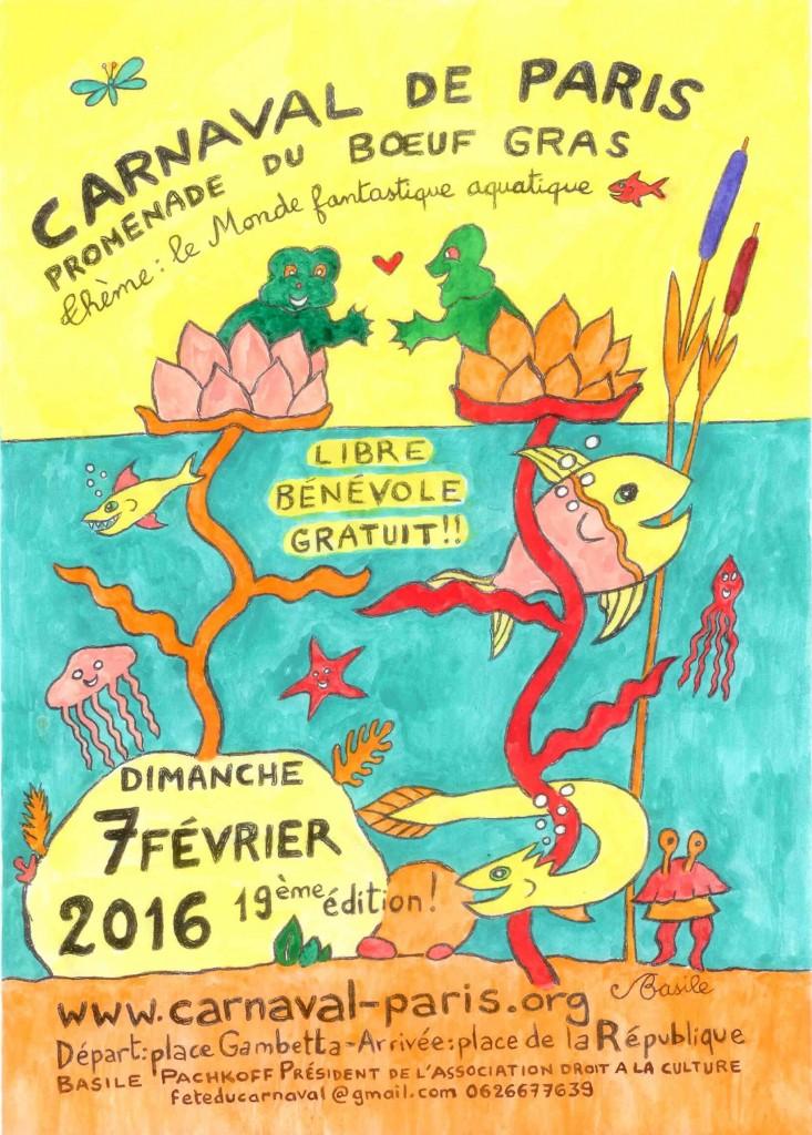 AFFICHE CARNAVAL DE PARIS 2016