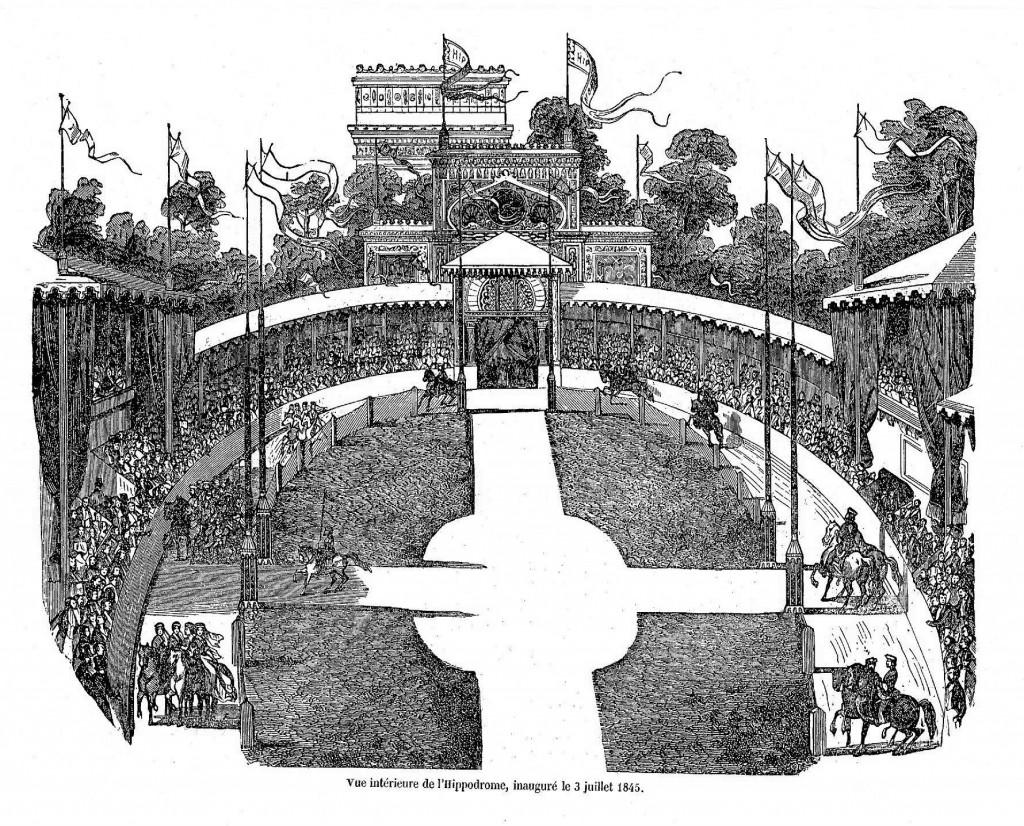 Vue intérieure de l'Hippodrome de la place de l'Etoile