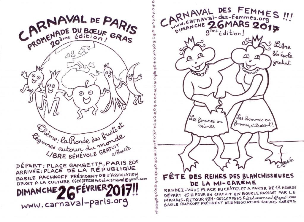 1 TRACT CARNAVAL DE PARIS 2017 RECTO