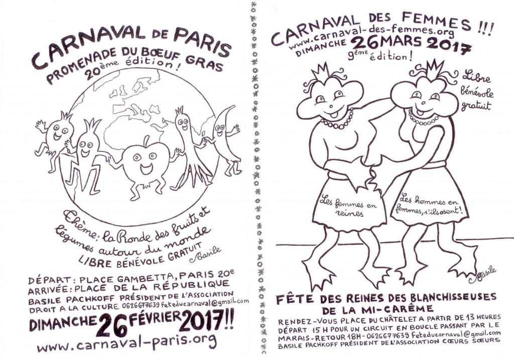 TRACT CARNAVAL DE PARIS 2017 RECTO