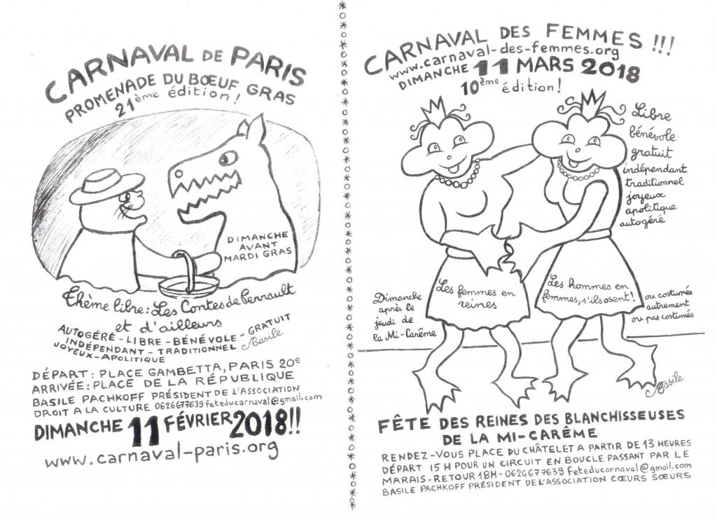 1 - TRACT CARNAVAL DE PARIS 2018 - RECTO
