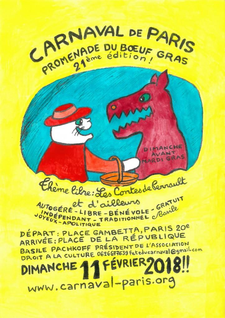4 - AFFICHE CARNAVAL DE PARIS 2018